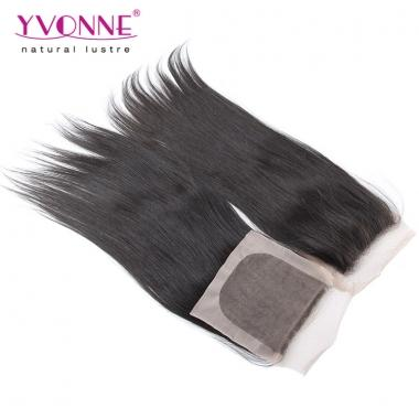 10-18 Inches Yvonne Hair Virgin Brazilian Silk Base Closure,Straight Human Hair Top Closure 4x4