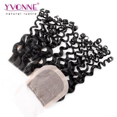 Yvonne Silk Base Closure,100% Italian Curly Virgin Human Hair Closure 4x4