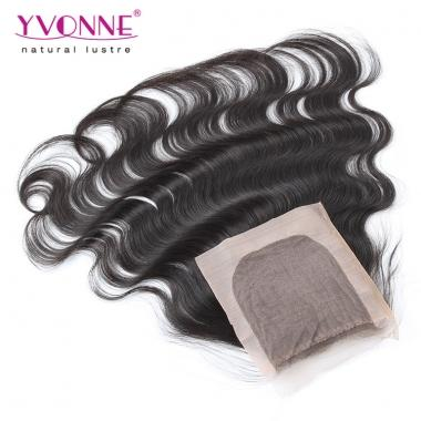 YVONNE Silk Base Closure Brazilian Hair Body Wave,100% Yvonne Human Hair Top Closure 4x4
