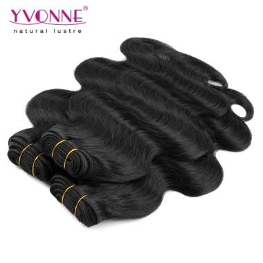 Brazilian Remy Hair Body Wave Human Hair Weave Yvonne Hair Products Natural Black Color