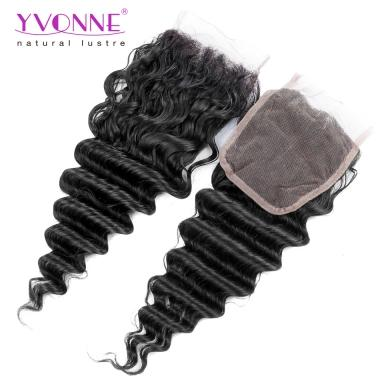 New Brazilian Hair Free Parting Closure For Deep wave,Yvonne Hair 4*4 Top Lace Closure 10