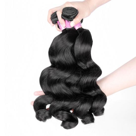 Premium Grade Peruvian Hair Bundle Loose Wave Natural Color 1Pcs/lot, Yvonne Hair 100% Virgin Human Hair Weave
