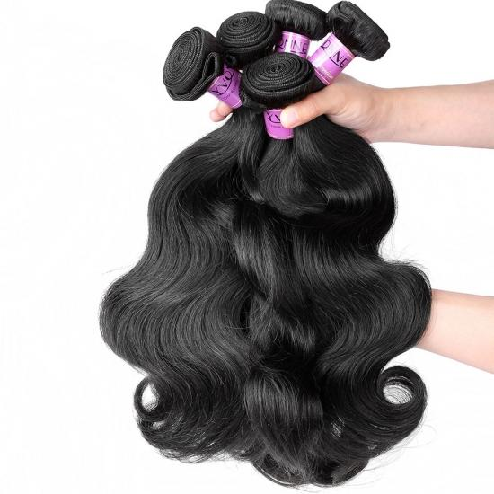 Premium Grade 100% Peruvian Virgin Hair Weave Body Wave Natural Color 1Pcs/lot