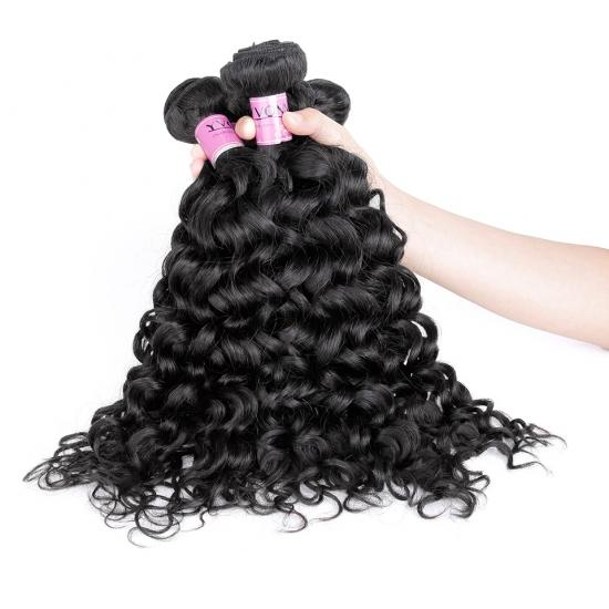 Premium Quality Yvonne Brazilian Virgin Hair, Italian Curl Human Hair Weave Natural Color 1Pcs/lot