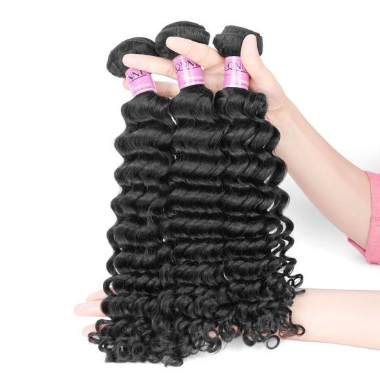 Premium Grade Brazilian Hair Weave Deep Wave Natural Color 1Pcs/lot