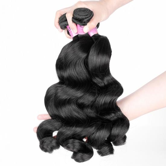 Premium Grade Brazilian Hair Weave Loose Wave Natural Color 1Pcs/lot