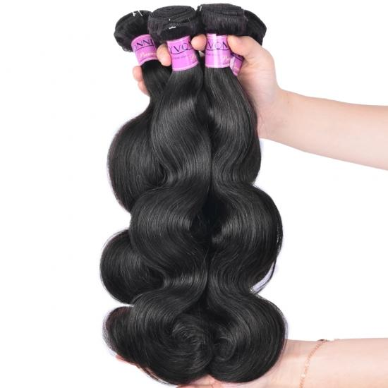 Diamond Quality Brazilian Hair Weave Body Wave 3/4 Bundles/Lot Natural Color Free Shipping
