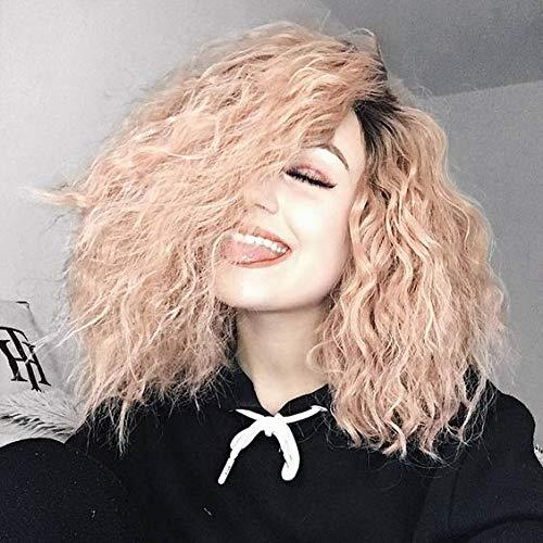 Yvonne Ombre Synthetic Lace Front Wig Wavy Oringe Pink Natural Dark Root Heat Resistant Hair Wigs For Women