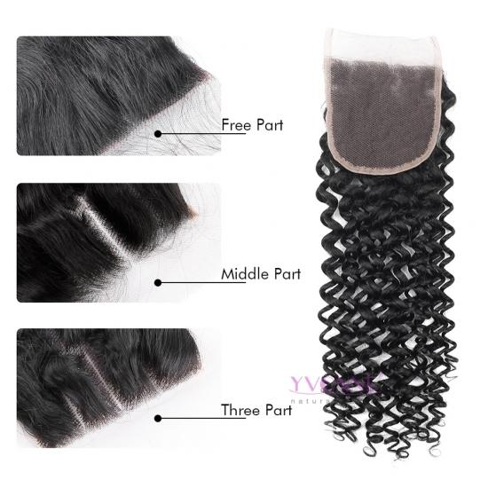 Yvonne Hair Malaysian Curly Brazilian Human Hair Closure,100% Virgin Hair Lace Closure 4x4