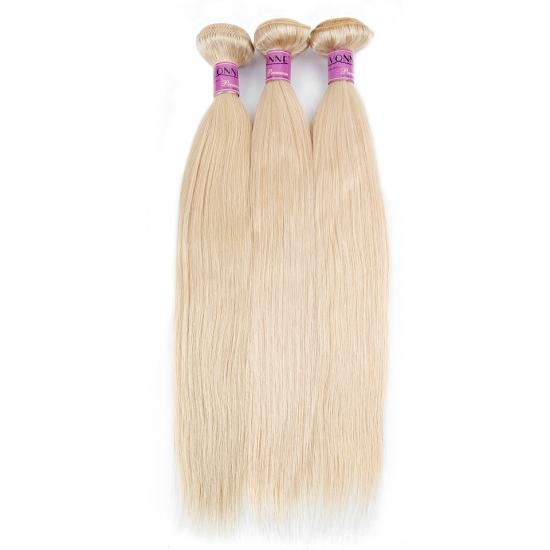 YVONNE Blonde Virgin Hair 1 Bundle 613 Natural Straight Brazilian Hair Weave 100% Yvonne Human Hair