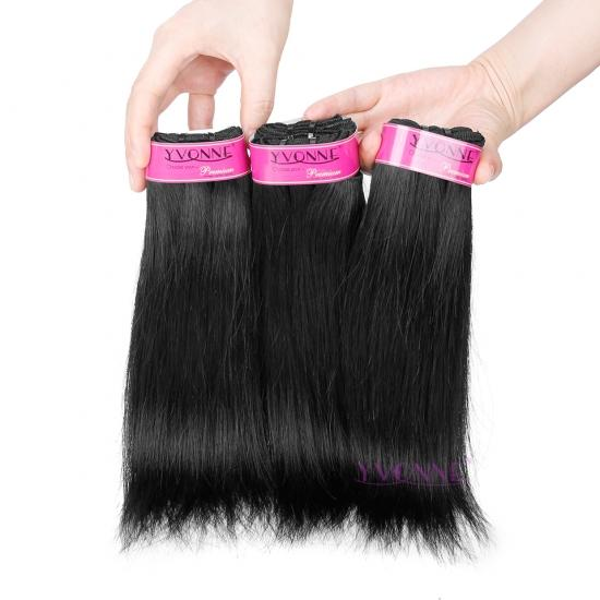 Premium Quality Yvonne Brazilian Human Hair, Natural Straight Virgin Hair Weave Natural Color 1Pcs/lot