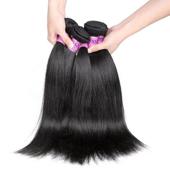 Platinum Grade Brazilian Hair Weave Natural Straight Natural Color 1Pcs/lot