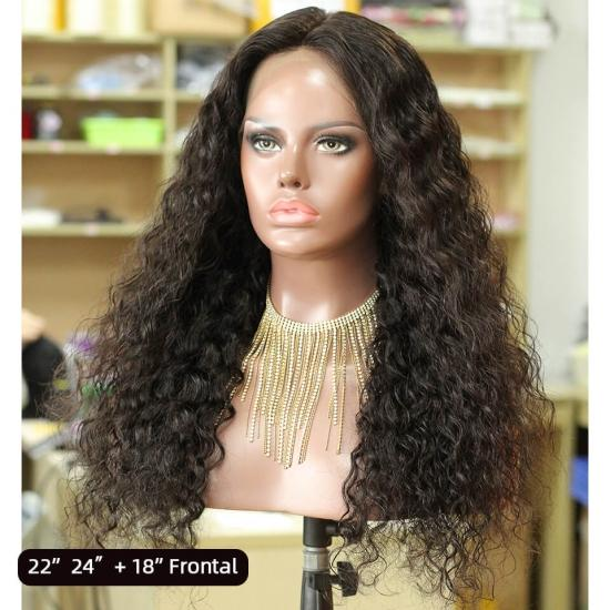 YVONNE Customized Long Wigs Water Wave 13x4 Lace Frontal Wigs High Density and Natural Color With Baby Hair