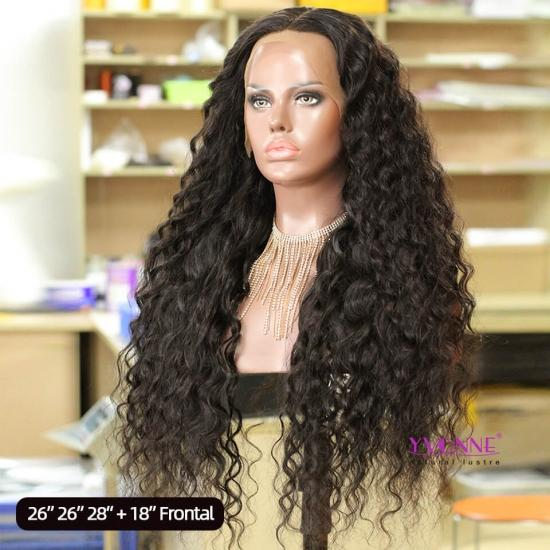 YVONNE Customized Big Curly Long Hair Wigs 13x4 Lace Frontal Wigs High Density and Natural Color With Baby Hair
