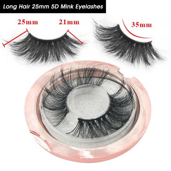 YVONNE Long Hair 25mm 5D Mink Eyelashes Wholesale Thick Strip 25mm Long Lashes