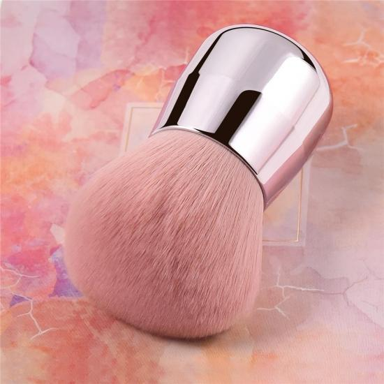 YVONNE Pro Pink Face / Body / Cheek Kabuki Makeup Powder Foundation Brush Soft & Fluffy Portable Make Up Brush