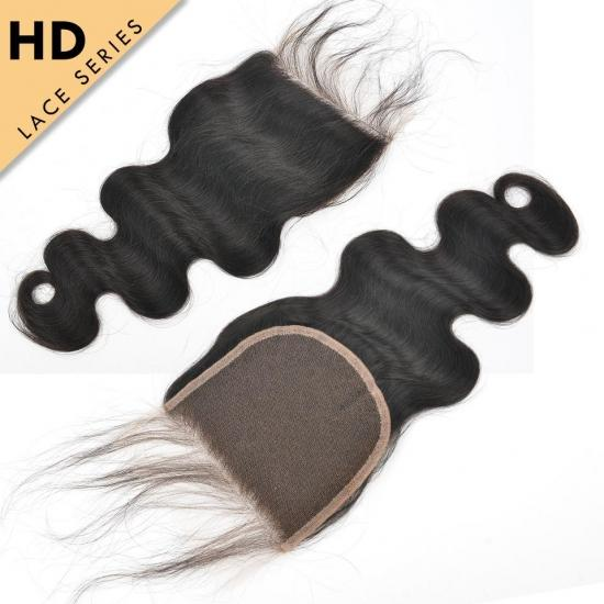 Yvonne HD Lace Closure 5*5 Body Wave HD Swiss Lace Closure Free Part Virgin Human Hair With Baby Hair
